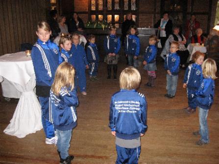 Die Tanzgruppe hatte einen Auftritt im Alten Garten